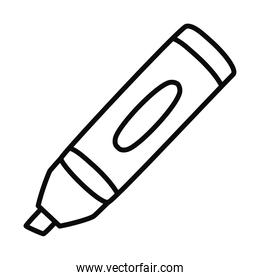 highlighter pen icon, line style