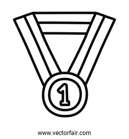 winner medal icon, line style