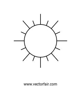 weather concept, sun icon, line style