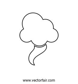 weather concept, tornado cloud icon, line style