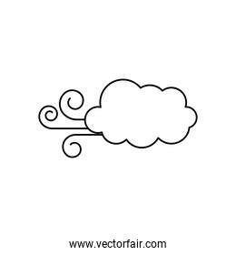 wind cloud icon, line style