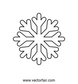weather concept, snowflake icon, line style