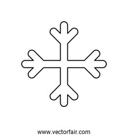 weather concept, snowflake icon image, line style