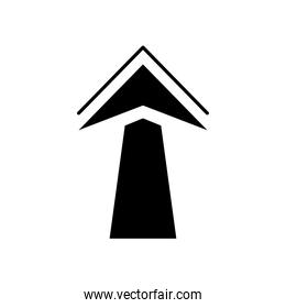 arrow up icon, silhouette style