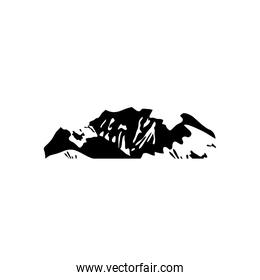 icon of cold mountains icon, silhouette style