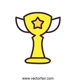 trophy line and fill style icon vector design