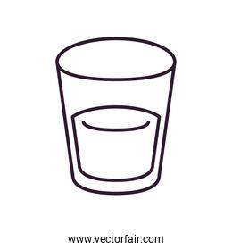 water glasss line style icon vector design