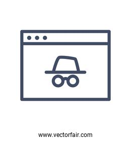 unknown website page line style icon vector design