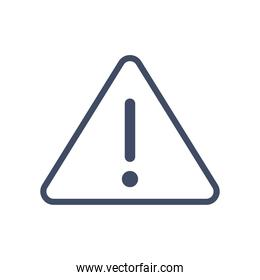 exclamation mark inside warning triangle line style icon vector design
