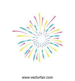 carnival fireworks icon, flat style