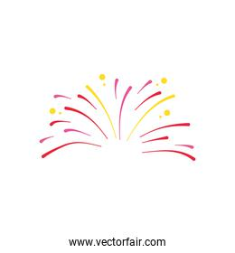 small fireworks explosion icon, flat style