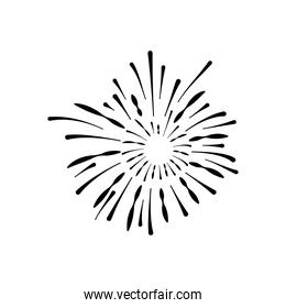 carnival fireworks icon, silhouette style