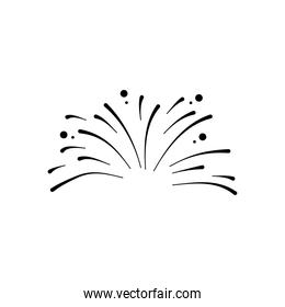 small fireworks explosion icon, silhouette style