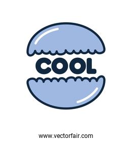 slang bubble concept, cookie with cool word, flat style