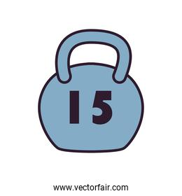 gym weight line and fill style icon vector design
