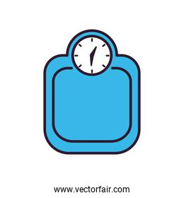 scale line and fill style icon vector illustration