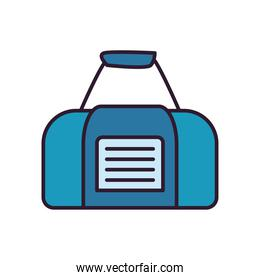 gym bag line and fill style icon vector design