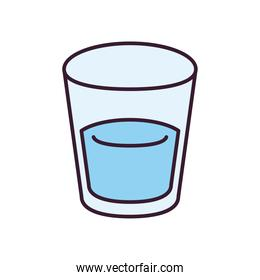 water glasss line and fill style icon vector design