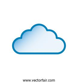 cloud line and gradient style icon vector design