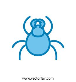 bug line and gradient style icon vector design