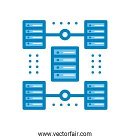 web hosting line and gradient style icon vector design