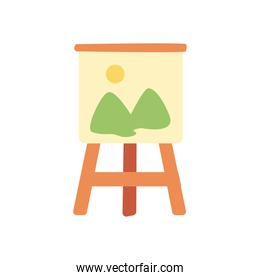 paint easel line and fill style icon vector design