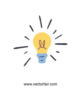 light bulb line and fill style icon vector design