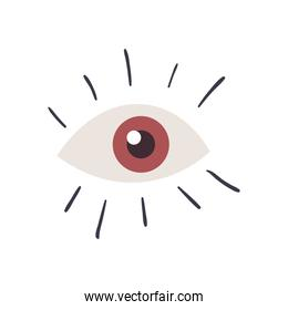 eye line and fill style icon vector design