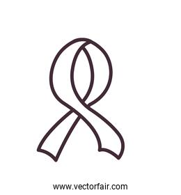 ribbon line style icon vector design