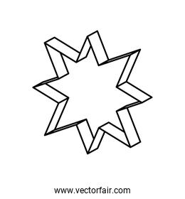 geometric shapes concept, geometric star icon, line style
