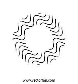 geometric shapes concept, ring with wavy lines design, line style