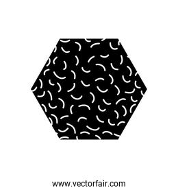 hexagon geometric shape with abstract design, silhouette style