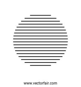 striped circle shape icon, silhouette style