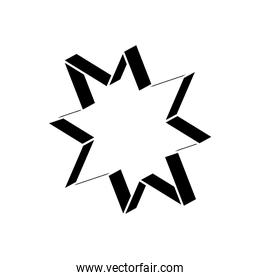 geometric shapes concept, geometric star icon, silhouette style