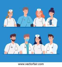 medical team and staff, nurses and doctors