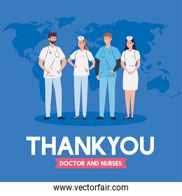 thank you doctor and nurses working in hospitals, doctors and nurses fighting the coronavirus covid 19