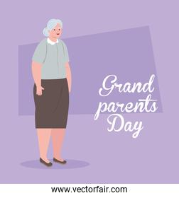 happy grand parents day with cute grandmother
