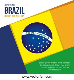 7 september, banner of celebration brazil independence day