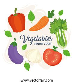 banner with vegetables, concept vegan food, with fresh and healthy vegetables