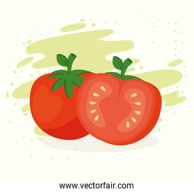 healthy food concept, fresh tomatoes