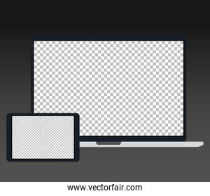 electronic devices, mockup device realistic, template for a content