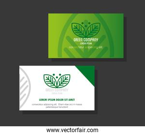 corporate identity brand mockup, business cards green mockup, green company sign