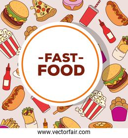poster of delicious fast food