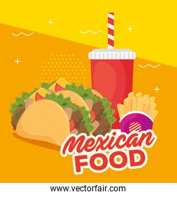 poster of delicious mexican food