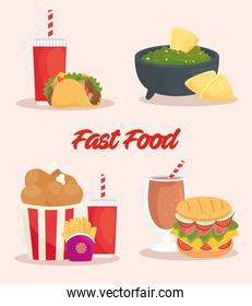 poster of set of delicious food