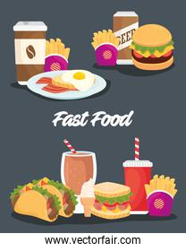 poster with set of delicious food