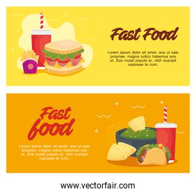 set poster, delicious fast food