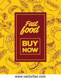 poster of fast food buy now