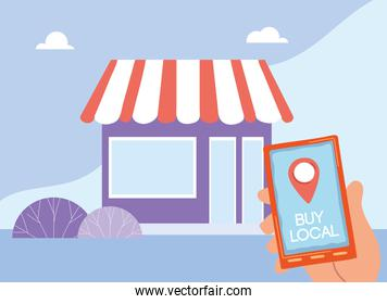 purchase at local businesses by mobile application