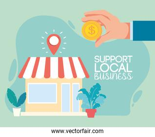 support of local businesses in the city